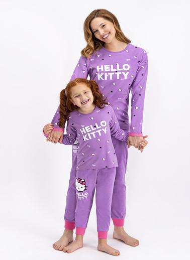 Hello Kitty Hello Kitty Lisanslı Lila Kadın Pijama Takımı Lila
